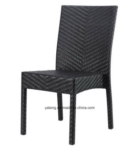 Top Selling Outdoor Aluminum PE-Rattan Furniture Stackable Chair&Knockdown Table Restaurant Set Square Table (YT182) pictures & photos