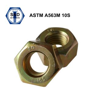 A563m 10s Heavy Hex Nuts Zinc Yellow pictures & photos