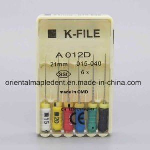 Dental Stainless Steel Files K-File, H Files, K-Reamer Files (hand use files) pictures & photos