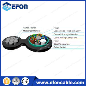 Aerial FRP Self-Supporting Non-Metalic 24/48core Fiber Optic Cable pictures & photos