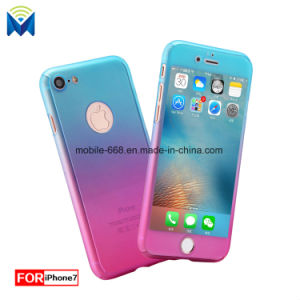 Fashion 360 Degree Full Body Protection Gradient Stitching Color Case for iPhone X 8 Plus 7 6 5 pictures & photos
