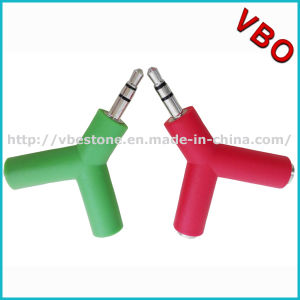 Colorful Y Shaped Earphone Splitter with Keychain Headphone Splitter Earphone Splitter pictures & photos