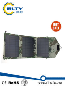 Army Green Colour 10.5W Foldable Solar Panel Charger Pack pictures & photos