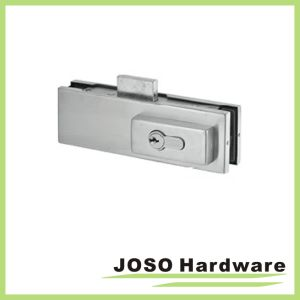 Glass Door Complete Bottom Lock Patch Fitting Including Cylinder PT104ls pictures & photos