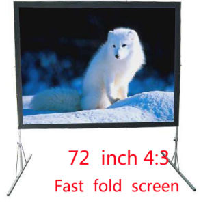 72 Inch Fast Folding Screen Projector Screen Family Business Office pictures & photos