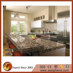 Natural Polished Brown Quartz Countertop pictures & photos