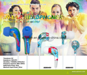 2016 New Colorful Printed Base Earphone pictures & photos