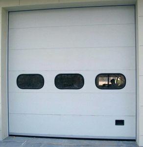 Anti-Vibration Aluminum Alloy Glass Garage Doors (HF-37) pictures & photos