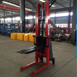 New 1.6~3.5m Semi- Electric Stacker with CE pictures & photos
