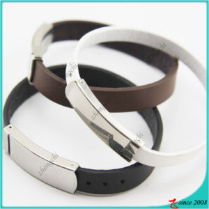 Genuine Leather Bracelet with Buckle for Gift pictures & photos