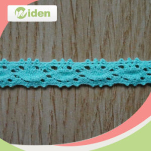 1.4cm Handmade Cotton Border Green Embroidery Lace pictures & photos