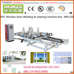 PVC/UPVC Vinyl Window Welding & Cleaning Machine Line, PVC Window Door Machine pictures & photos