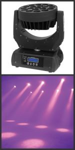 19PCS 15W RGBW 4in1 LEDs Wash Light Moving Head
