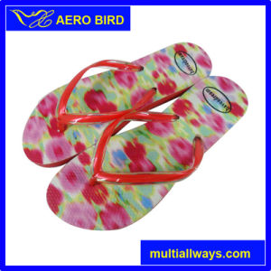 New Fashion Flowers Girls Flip Flop PE Slippers for Ladies pictures & photos