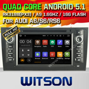 Witson Android 5.1 Car DVD GPS for Audi A6 with Chipset 1080P 16g ROM WiFi 3G Internet DVR Support (A5577) pictures & photos