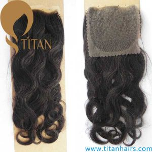 "4""X4"" Brazilian Virgin Human Hair Top Lace Closure"