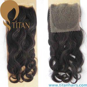 "4""X4"" Brazilian Virgin Human Hair Top Lace Closure pictures & photos"