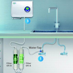 500mg/H Ozone Tap Water Purifier with Active Carbon and Membrane Filter pictures & photos