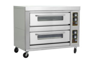 Double-Layer Six-Tray Bakery Pizza and Bread Gas Oven pictures & photos