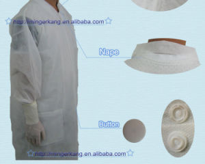 Soft PP SMS Non Woven Disposable Visitor Coat pictures & photos