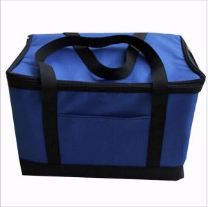 Folding Insulation Large Meal Package Lunch Cold Storage Take-Away Bag Ice Pack Cooler Bag 600d Polyester pictures & photos