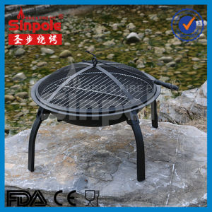 22inch Portable Fire Pit with BBQ Grill (SP-FT001) pictures & photos