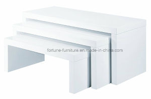 Modern Wooden UV High Gloss White End Table (502B) pictures & photos