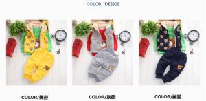 Ks1134 2015 Winter Good Quality 100% Cotton Fleece Children Suit 3PCS Set Clothes Children Hoodies Outwear+T Shirt+Pants Baby Leisure Suit pictures & photos