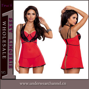 Wholesale Lady Underwear Nightwear Babydoll Sexy Chemise (33001) pictures & photos