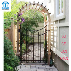 High Quality Crafted Wrought Single Iron Gate 033 pictures & photos