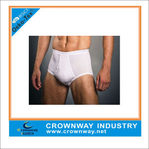 Plain White Mature Men Sexy Underwear Boxer Briefs pictures & photos