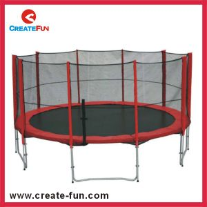 Createfun 14ft Large Outdoor Trampoline with Spring Cover Pad