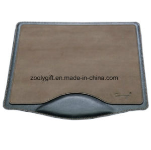 Customized Design PU Leather Mousepad with Logo with Write Rest pictures & photos