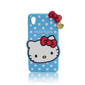 Hello Kitty Silicone Phone Accessories Cartoon Phone Case for iPhone 6 7 7plus (XSK-003) pictures & photos