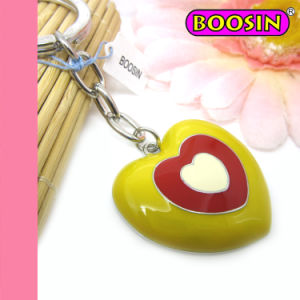 Big Heart Shape Keychain / Red Heart Bag Decoration Metal Keyring pictures & photos