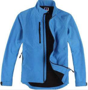 Factory Made Good Quality Custom Polyester Fleece Softshell Jacket pictures & photos