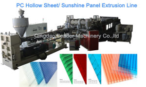 for Carport Canopy Polycarbonate PC Sunshine Panel Extrusion Line pictures & photos