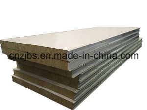 Modular House Used Wall Type Rock Wool Fiber Sandwich Panel pictures & photos
