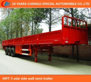 40FT 3 Axle Side Wall Semi Trailer pictures & photos
