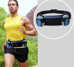2016 Waist Customize Fanny Pack with Water Bottle Holder, Wholesale Running Waistbag pictures & photos