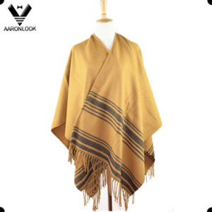 Hot Selling Stripe Pattern Big Woven Shawl pictures & photos