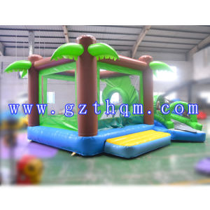 Children Coconut Tree Inflatable Jump Bed Slides pictures & photos