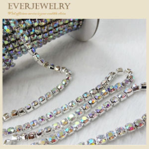 Crystal Rhinestone Brass Cup Chain in Roll for Dress, Shoes, Necklace, Bracelet pictures & photos