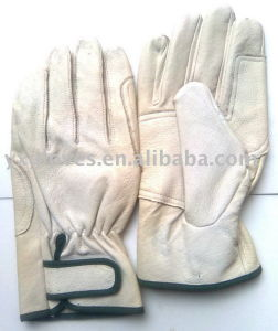 Pig Grain Leather Glove-Driver Glove-Utility Glove-Weight Lifting Glove pictures & photos