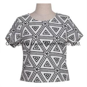 Base Short Sleeve Girl Women Ladies Chiffon T-Shirt