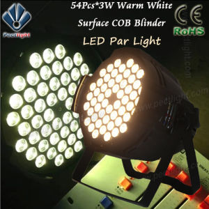 Warm/Pure White 54PCS*3W LED PAR Can Church Wedding Light pictures & photos