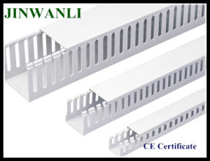 Solid Wall Plastic Square Wiring Duct Electrical Slotted pictures & photos