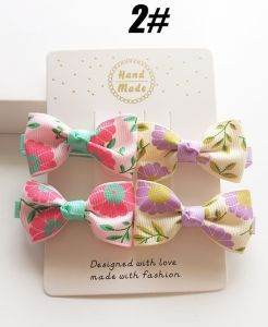 2017 Wholesale Fashion Baby Hair Accessories Bowknot Hair Clip Hairpin pictures & photos