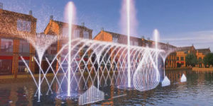 Outdoor Lake or River Floating Color Changing Dancing Water Fountain pictures & photos