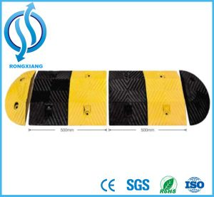 500*400*40mm High Quality Rubber Traffic Roadway Speed Hump pictures & photos